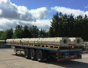 Pipe Collars Loaded for Delivery