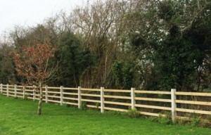 Post & Timber Rail Fencing Compressed