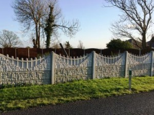 Post and Panel Fencing with decorative top panel
