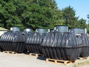 Tanks in yard compressed