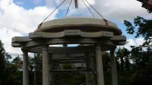 Lifting on the precast dome